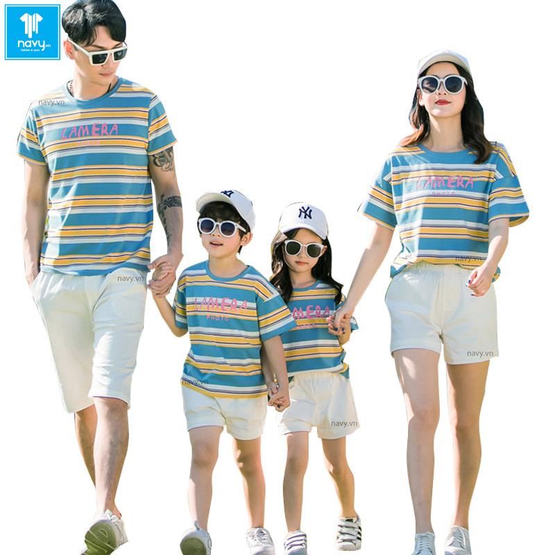 áo thun gia đình 4 người