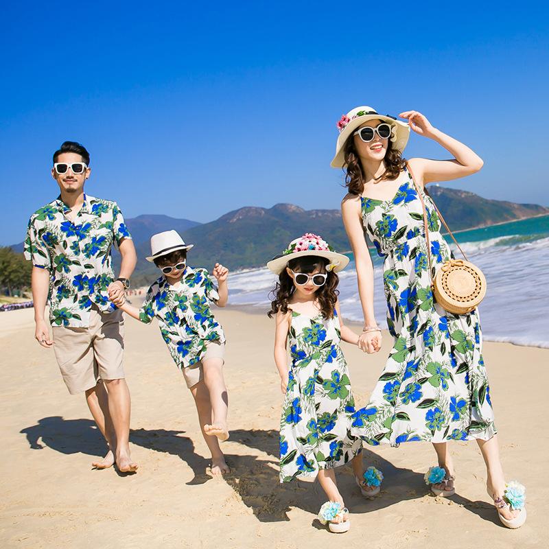 áo sơ mi gia đình đi biển