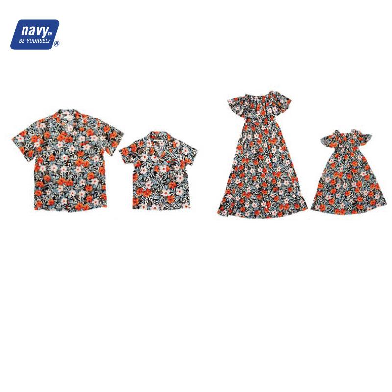 áo váy gia đình đi biển nad227